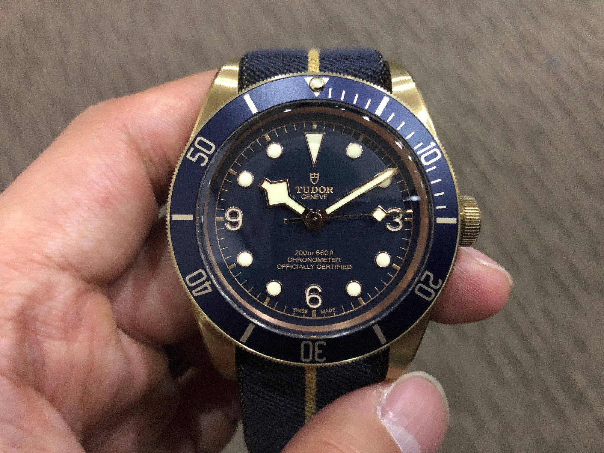 -SOLD- Tudor Black Bay Bronze Bucherer Blue 79250BB