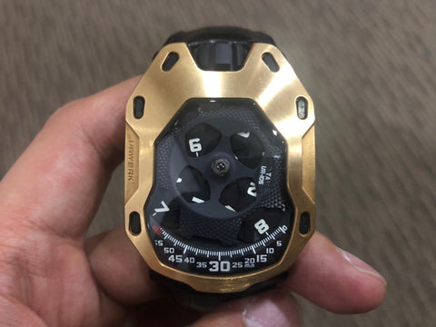 -Pre Owned- Urwerk Knight Rose Gold UR105TA / UR 105 TA Limited 100 Pieces