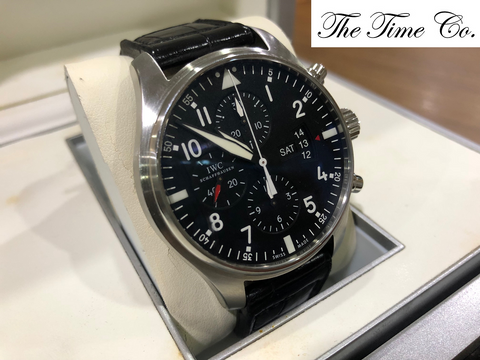 -SOLD- IWC Pilot Chronograph IW3777-01