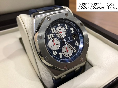 -Pre Owned- Audemars Piguet Blue Themes 25721ST