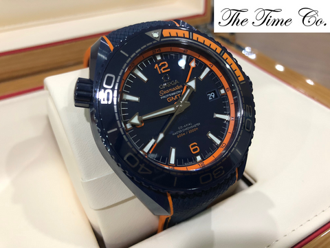 -Pre Owned- Omega Sea Master Professional GMT Big Blue
