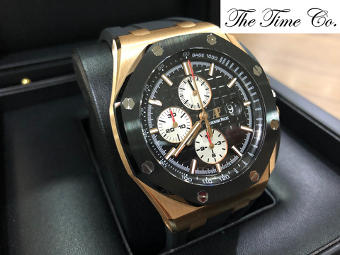 -SOLD- Audemars Piguet Novelty Rose Gold 26401RO