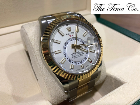 -Pre Owned- Rolex Sky Dweller Two Toned 326933