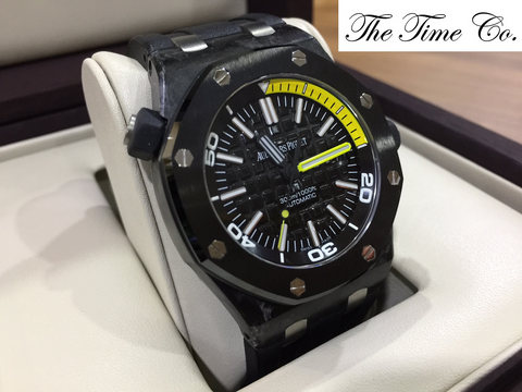 -SOLD- Audemars Piguet Forged Carbon Diver 15706AU