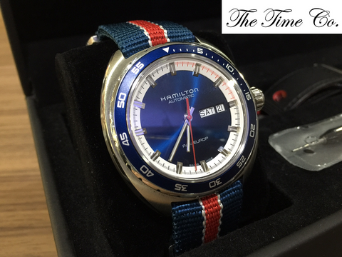 -SOLD- Hamilton Pan Europ Sunburst Blue