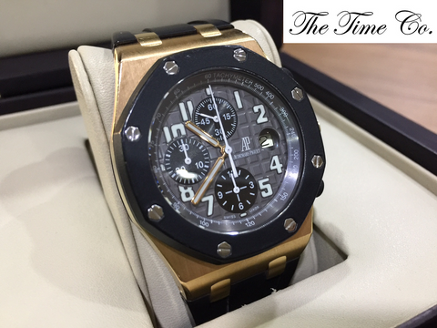 -SOLD- Audemars Piguet Rubber Clad Rose Gold 25940OK