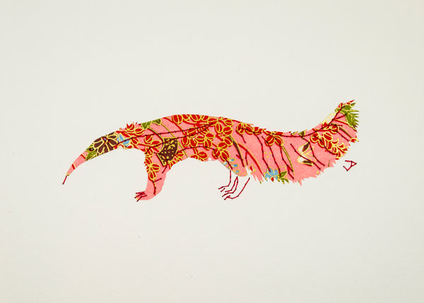 Anteater in Pink & Red Flowers
