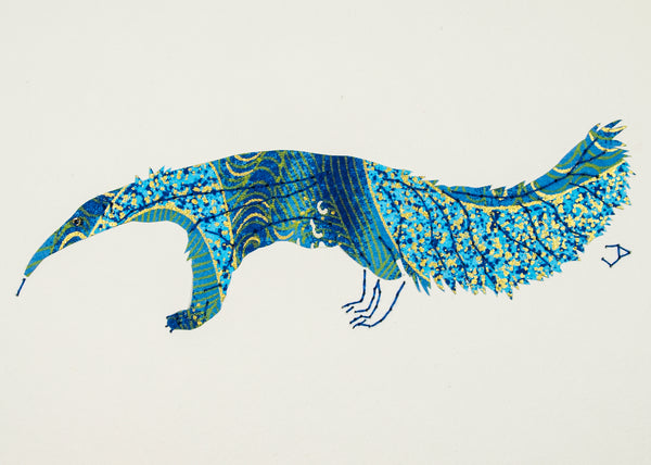 Anteater in Blue & Gold