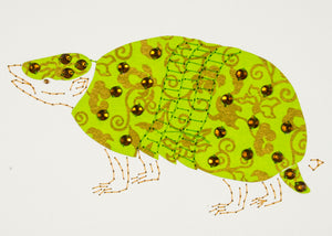 Armadillo in Green & Gold