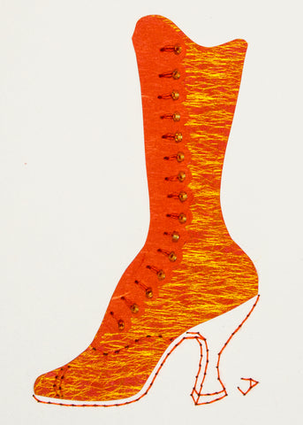 1890s Boot in Orange