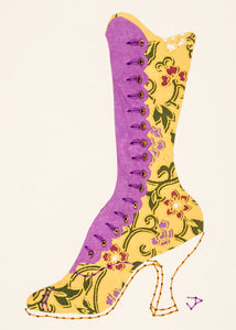 1890s Boot in Brown & Lilac