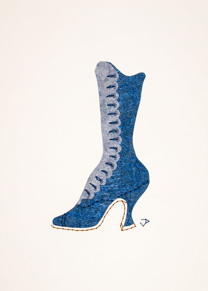 1890s Boot in Blue