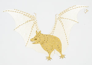 Vampire Bat in Gold & Ivory