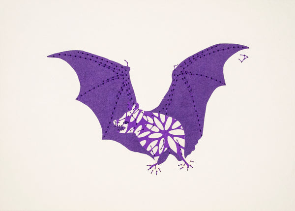 Vampire Bat in Purple