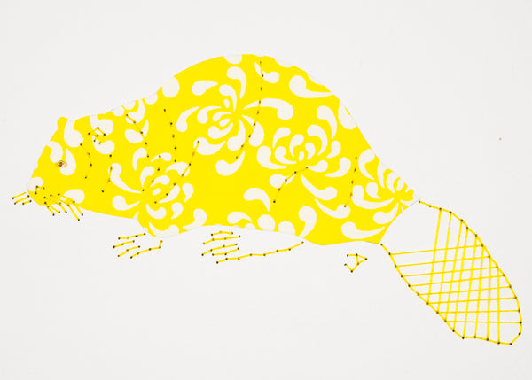 Beaver in Yellow & White