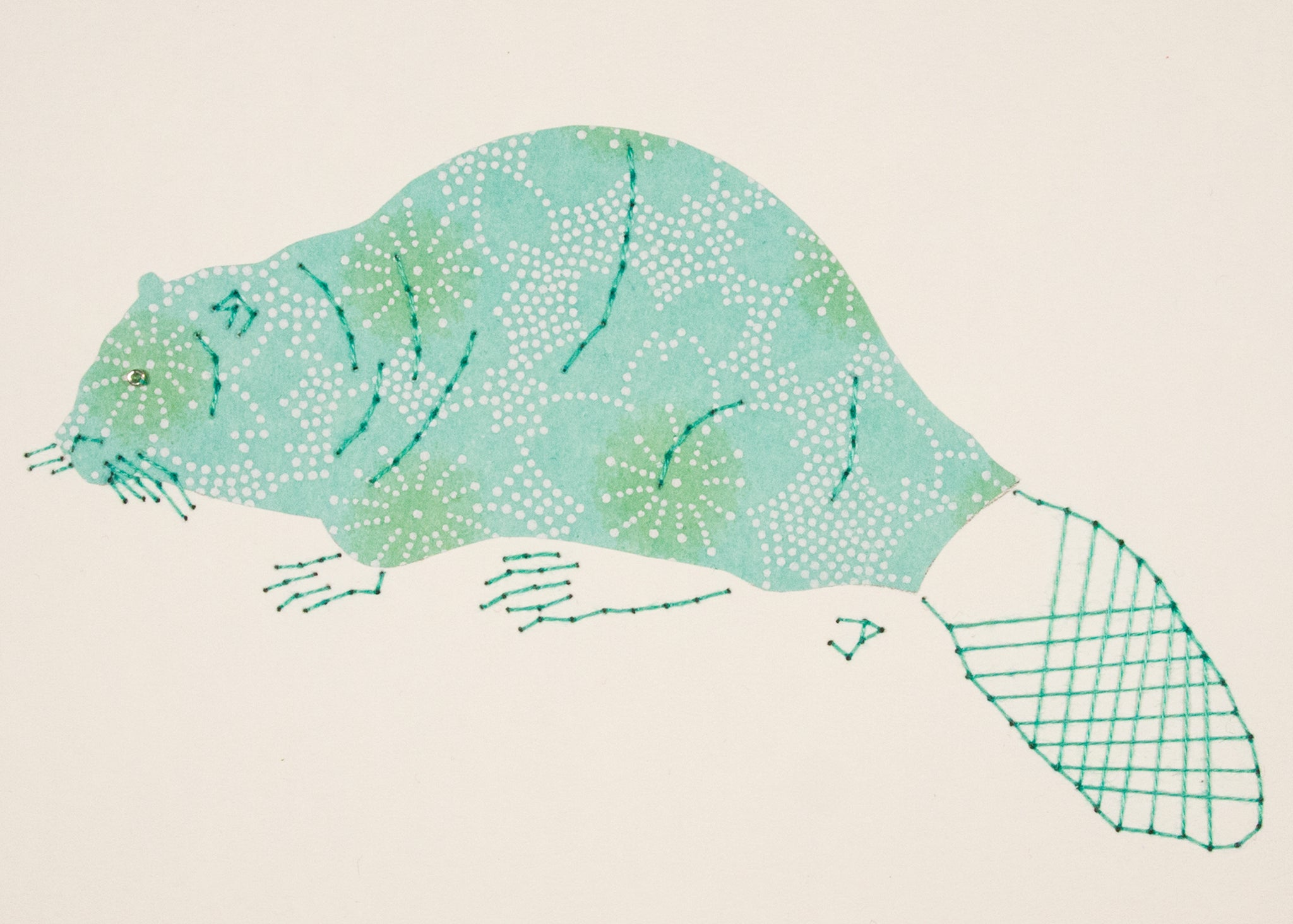 Beaver in Pale Turquoise