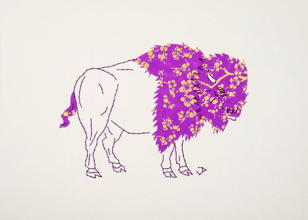 Bison in Purple & Gold