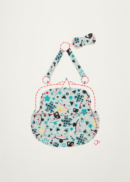 Chatelaine Handbag in Lucky Cat Faces