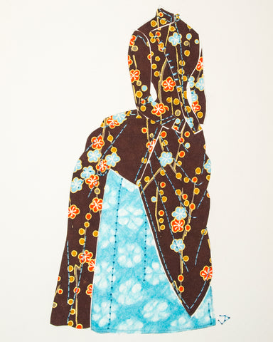 Dress #003: Victorian dress in brown and turquoise. 2014
