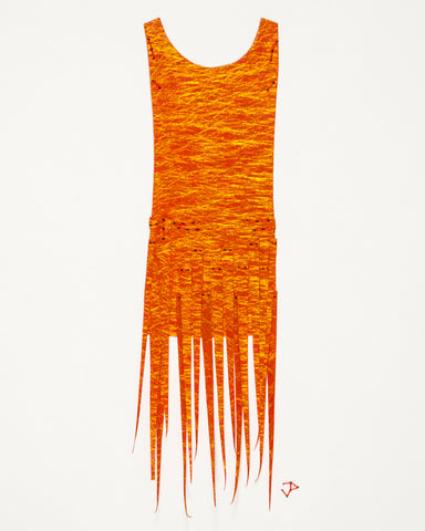 Dress #067.2: Flapper dress in oranges. 2017