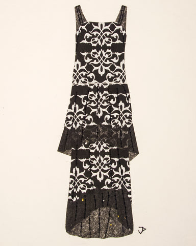 Dress #071: 1920s dress in black and silver. 2016