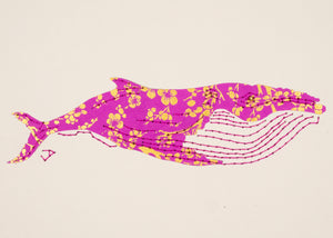Humpback Whale in Gold and Mauve