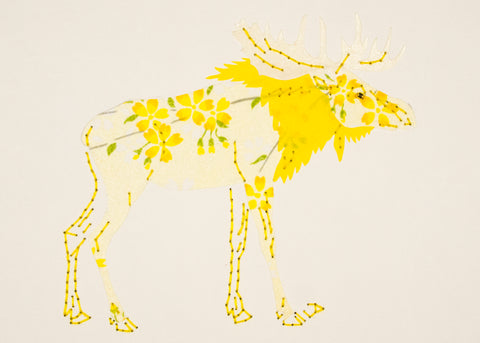 Moose in Yellow