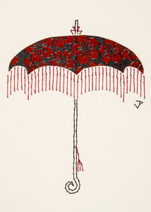 Parasol in Lacquer Red & Black