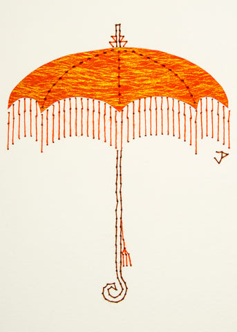 Parasol in Shimmering Orange