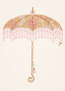 Parasol in Buff & Pink