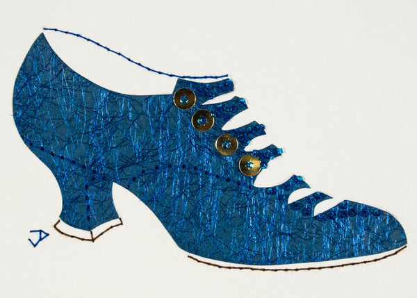 1916 Shoe in Shimmering Blue