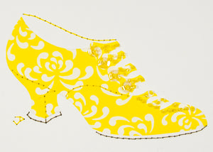 1916 Shoe in Yellow & White