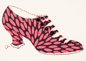1916 Shoe in Pink and Black