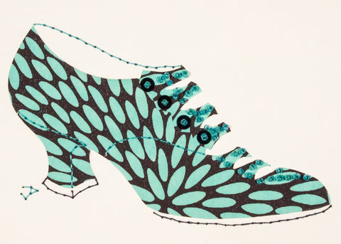 1916 Shoe in Turquoise and Black