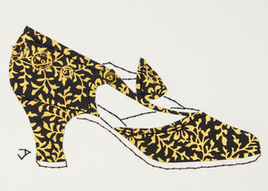 1925 Shoe in Gold & Black