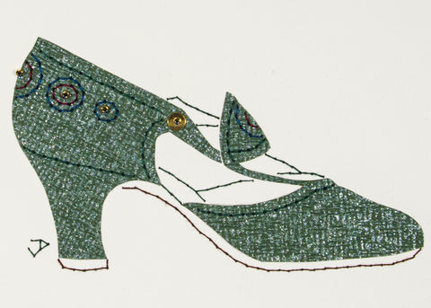 1925 Shoe in Silvered Green
