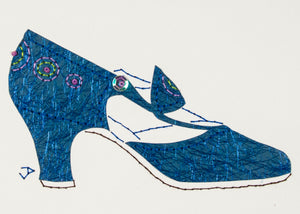1925 Shoe in Shimmering Blue