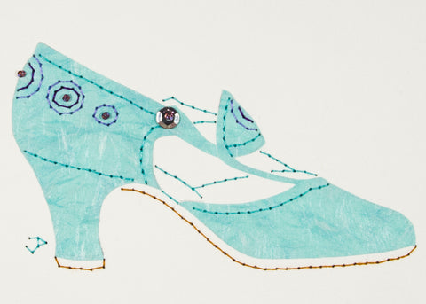1925 Shoe in Pale Turquoise