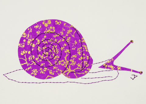 Helix Snail in Gold & Mauve