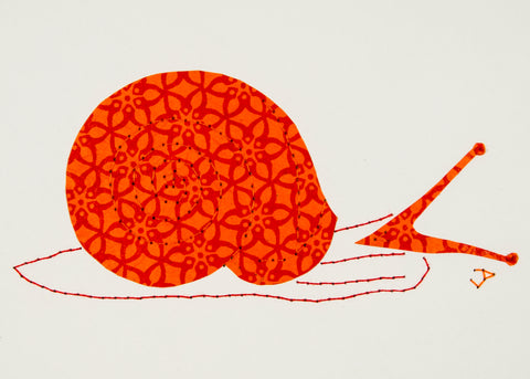 Helix Snail in Orange & Red