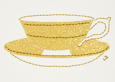 Teacup in Gold
