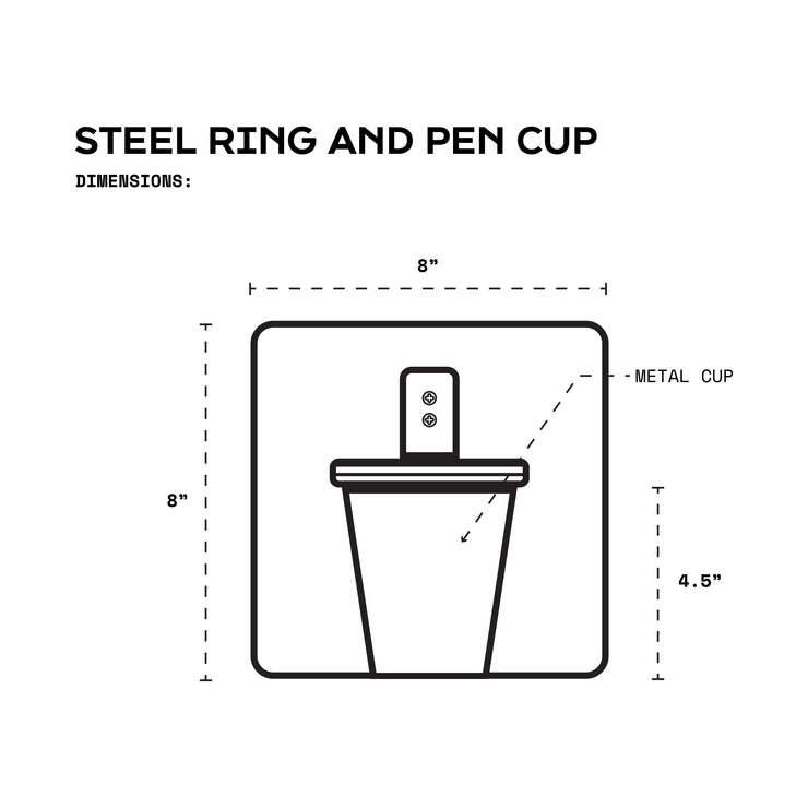 ONE x ONE Steel Ring and Pen Cup