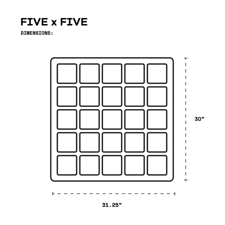 "FIVE x FIVE Panel with Hooks (5"" windows)"