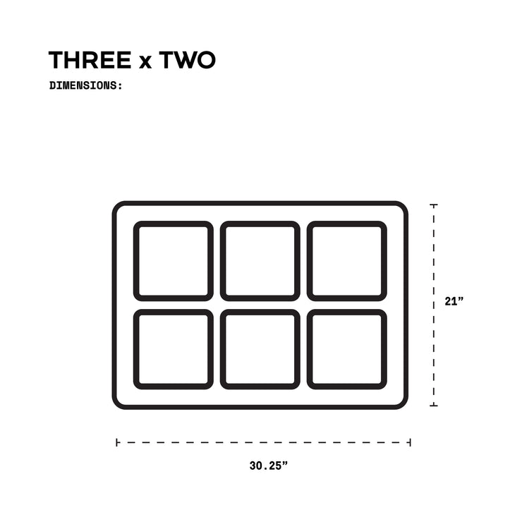 THREE x TWO with Single Hooks + Acrylic Faces Combo Kit