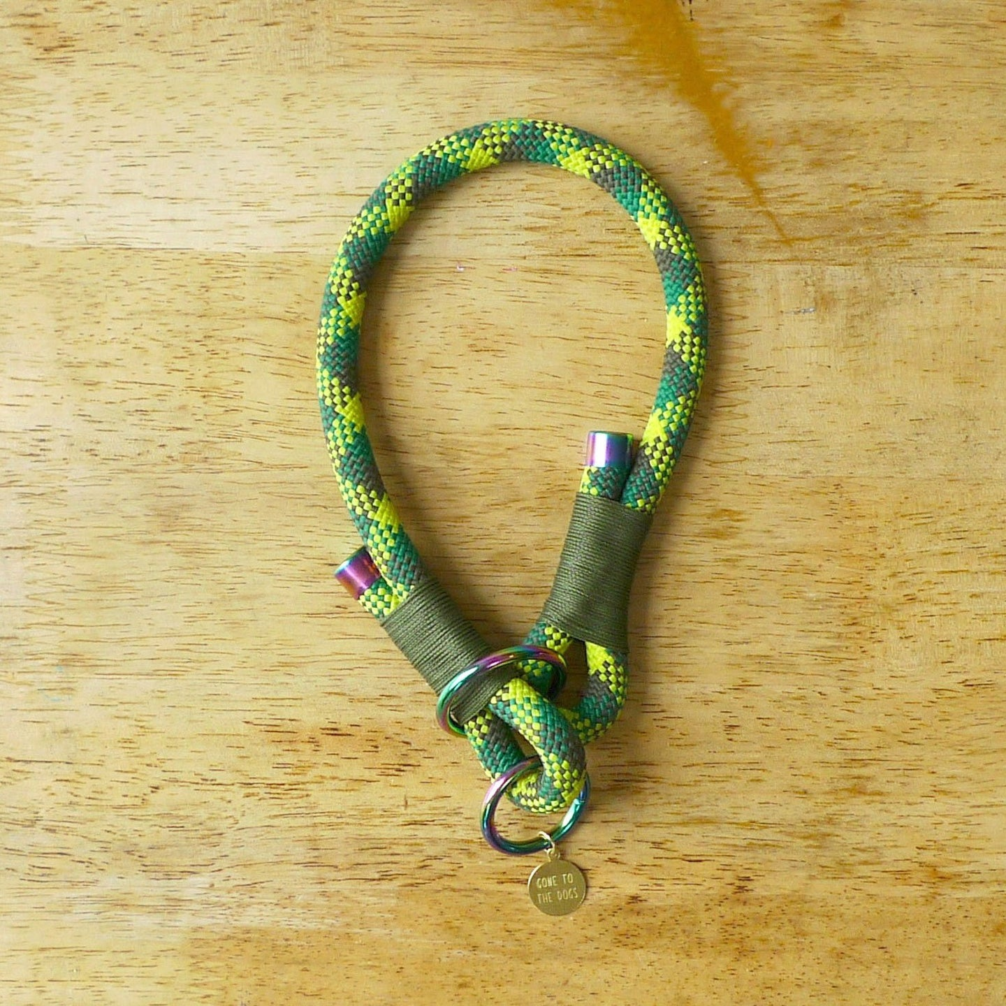 Green Rope Slip Collar for Dogs
