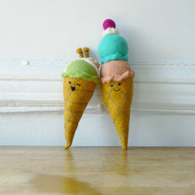 Load image into Gallery viewer, Double Scoop Cone Squeaker Toy