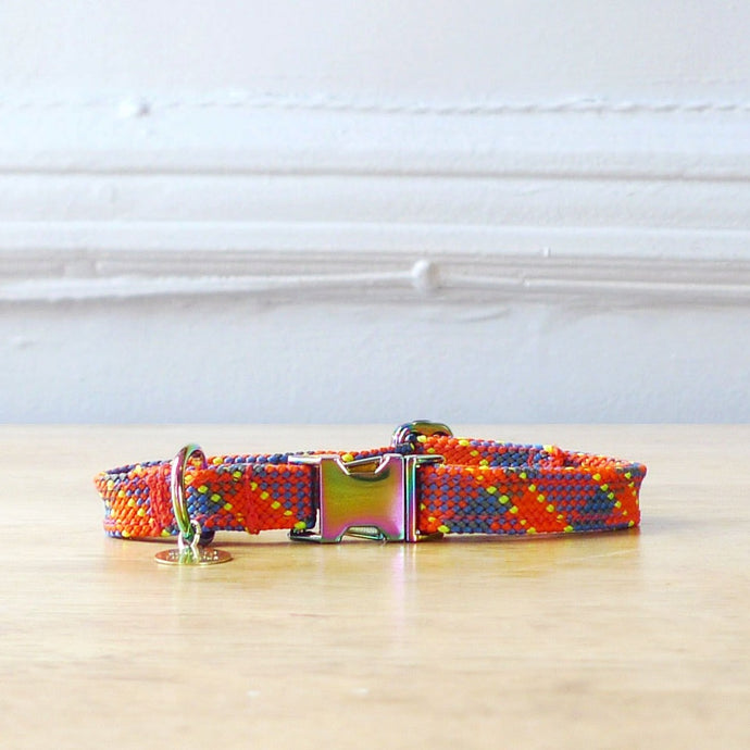 Ethically made flat rope dog collar