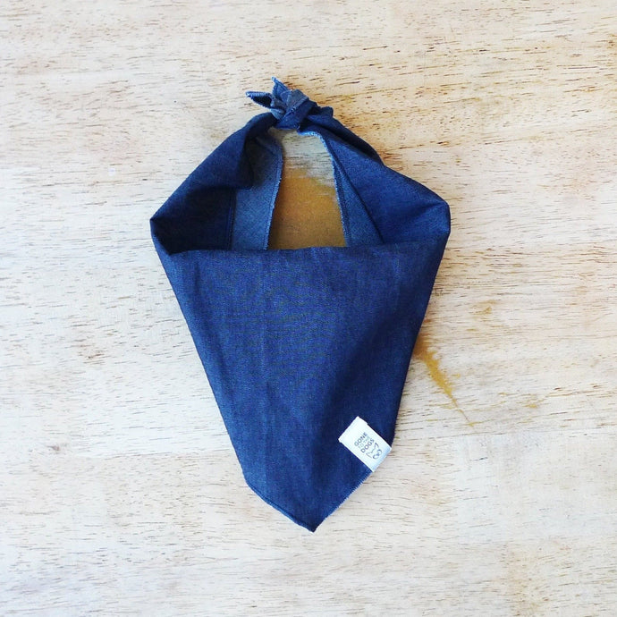 Blue Denim Dog Bandana or Neckerchief