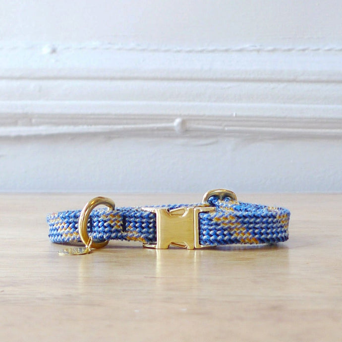 Blue rope dog or cat collar