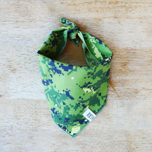 Load image into Gallery viewer, Green Pixel Camo Dog Bandana or Neckerchief